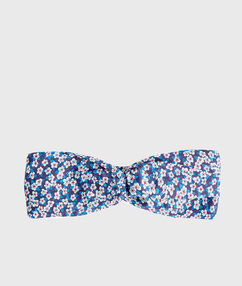 Head band liberty bleu.
