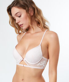 Soutien-gorge n°2 - push up plongeant blush.