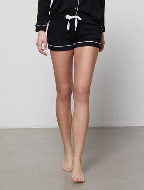 Short bicolore noir.