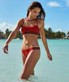 Bikinibroekje eenvoudig oranje-rood.