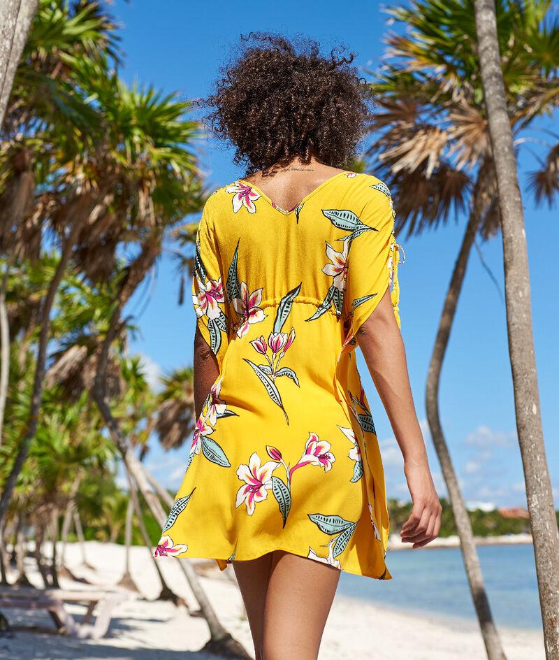 Tunique de plage, imprimé fleuri;${refinementColor}