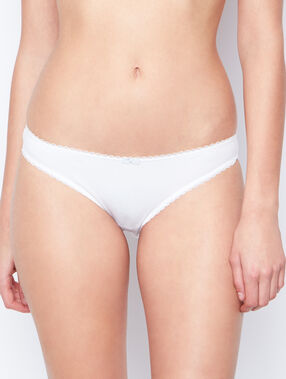 Culotte en coton majoritaire blanc.