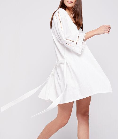 Kimono déshabillé en coton brodé Etam Etam Nuit > ET AUSSI > Kimonos