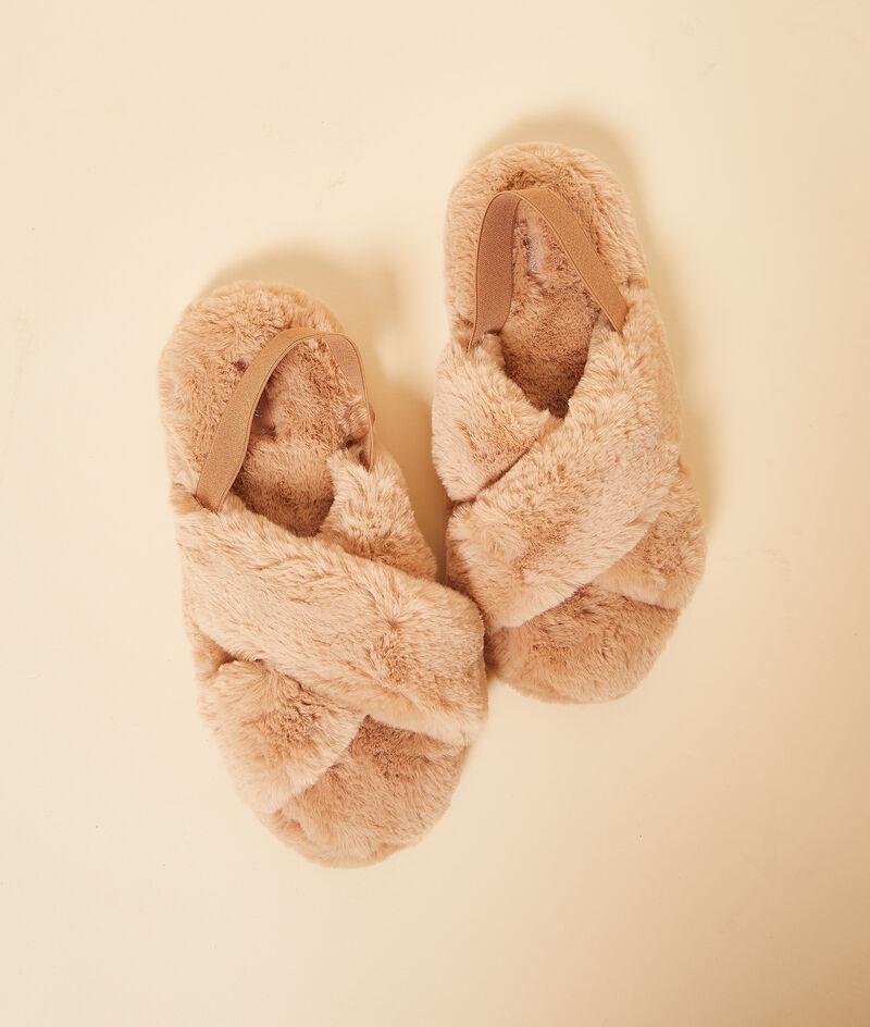 Gevoerde open slippers;${refinementColor}