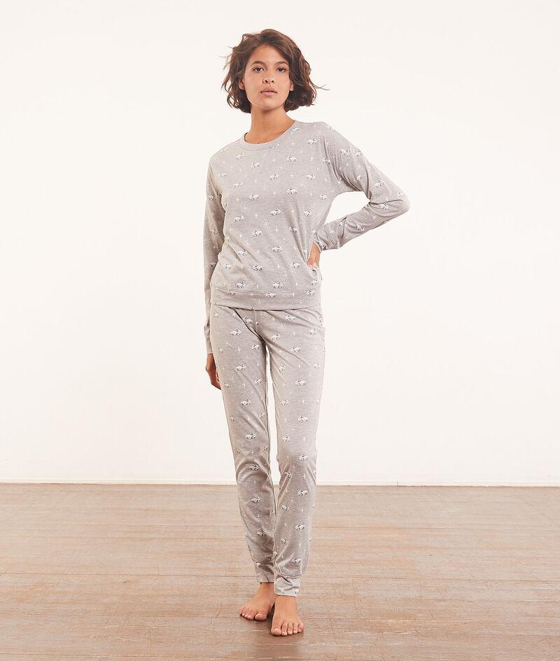 Driedelige pyjamaset met poncho ;${refinementColor}