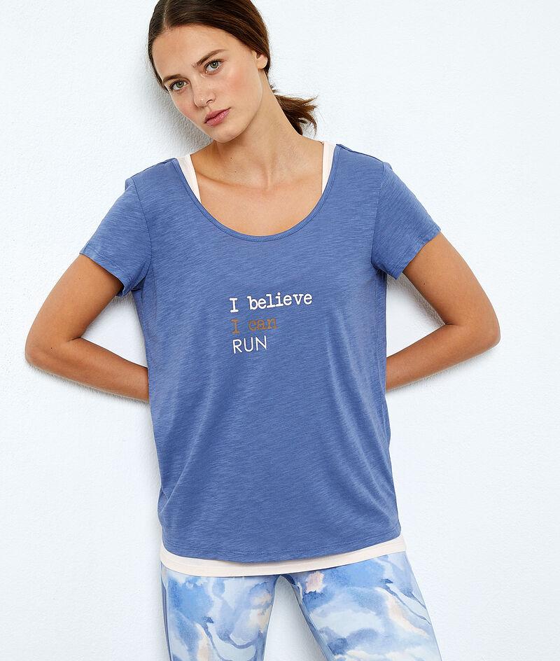 T-shirt de training, débardeur intégré;${refinementColor}