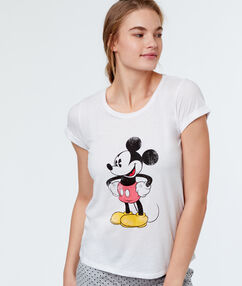 T-shirt met print mickey wit.