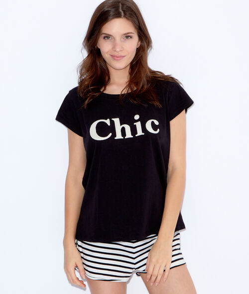 "Top imprimé ""Chic"""