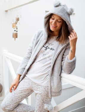 "Pyjama 3 pièces koala ""trop mignon"" gris."