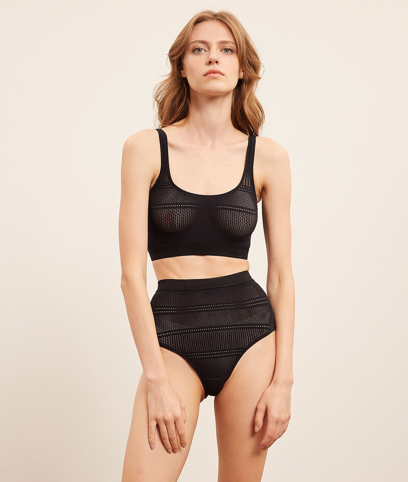 Slip met hoge taille in stretch tricot;${refinementColor}