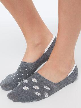 2 paires de socquettes fantaisie gris.