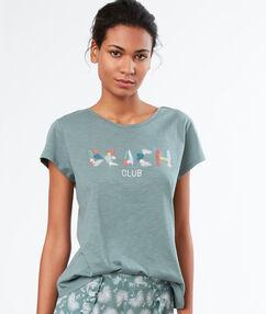 T-shirt met print kaki.