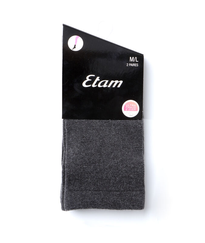 2 paires de chaussettes gris.