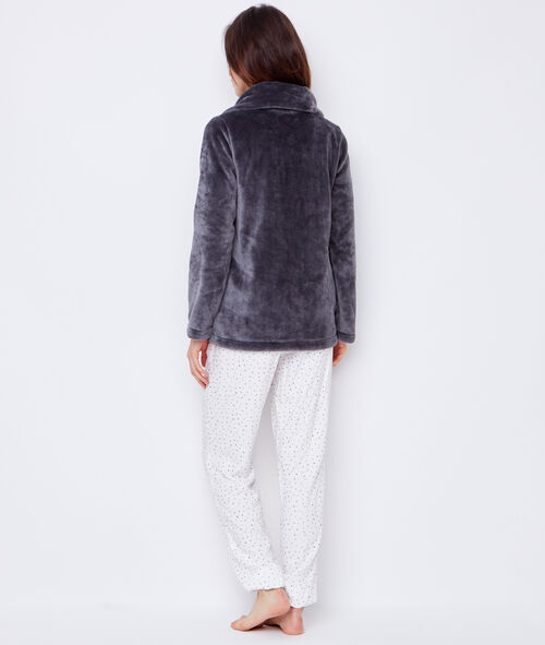Pyjama trois pièces, veste doudou
