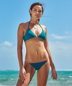 Bas de bikini simple bleu canard.