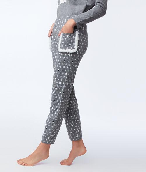 Pantalon imprimé avec poches fausse fourrure Etam Etam SOLDES - Prix minis et Bonnes Affaires > Soldes Nuit