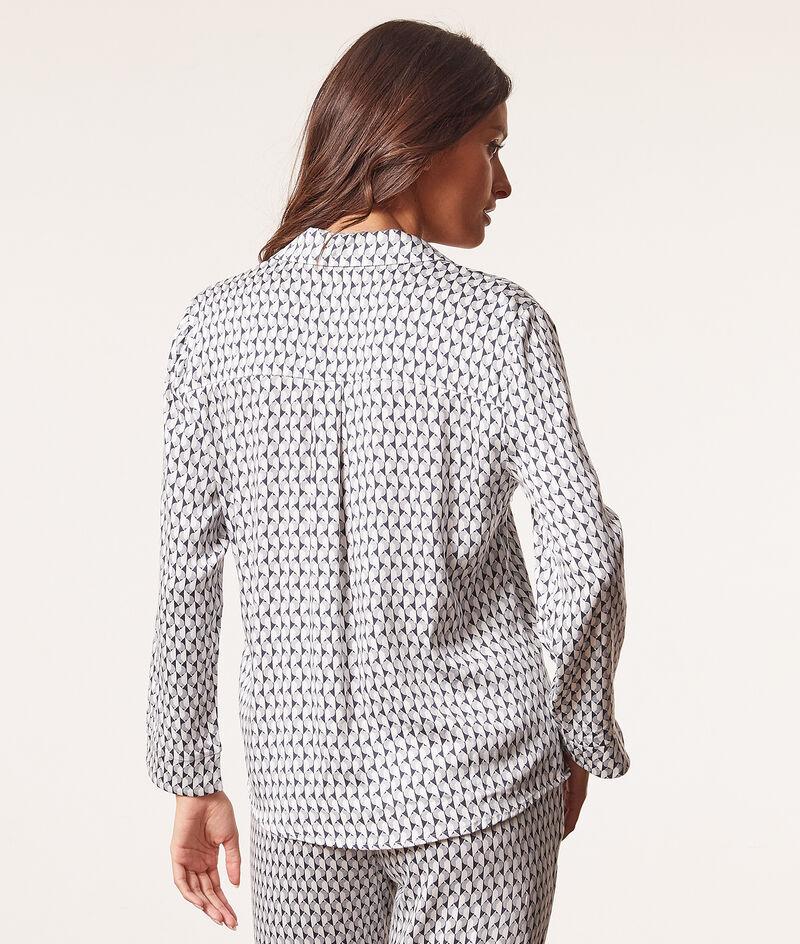 Pyjamahemd met print;${refinementColor}