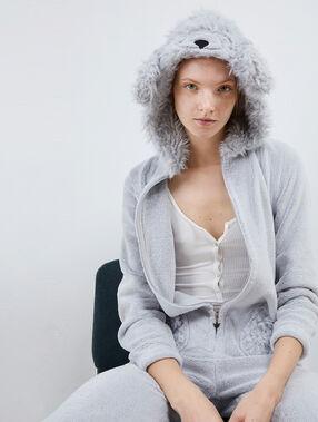 Combinaison pyjama chien gris.
