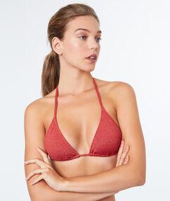 Haut de maillot de bain triangle sans armature brique roux.