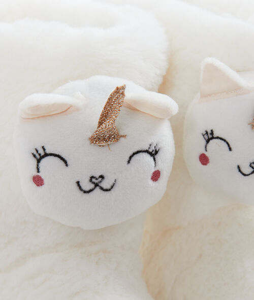 Chaussons 3D licornes