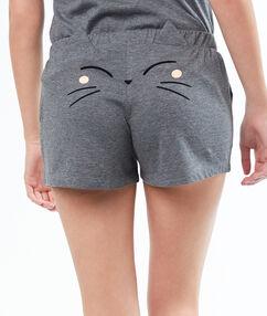 Short uni gris.