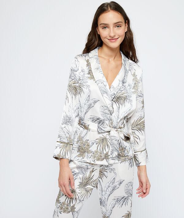 Pyjamavest met bladerprint;${refinementColor}