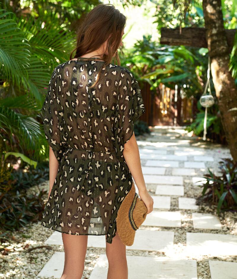Tunique à imprimé léopard;${refinementColor}