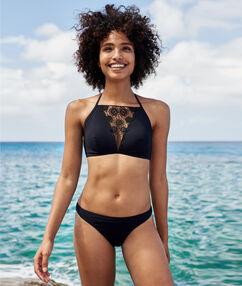 Bas de bikini noir.