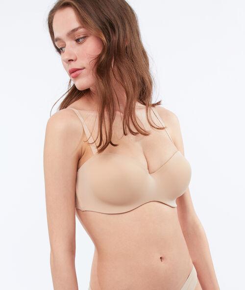 Beha strapless microvezel, verstelbare schouderbandjes, cup C