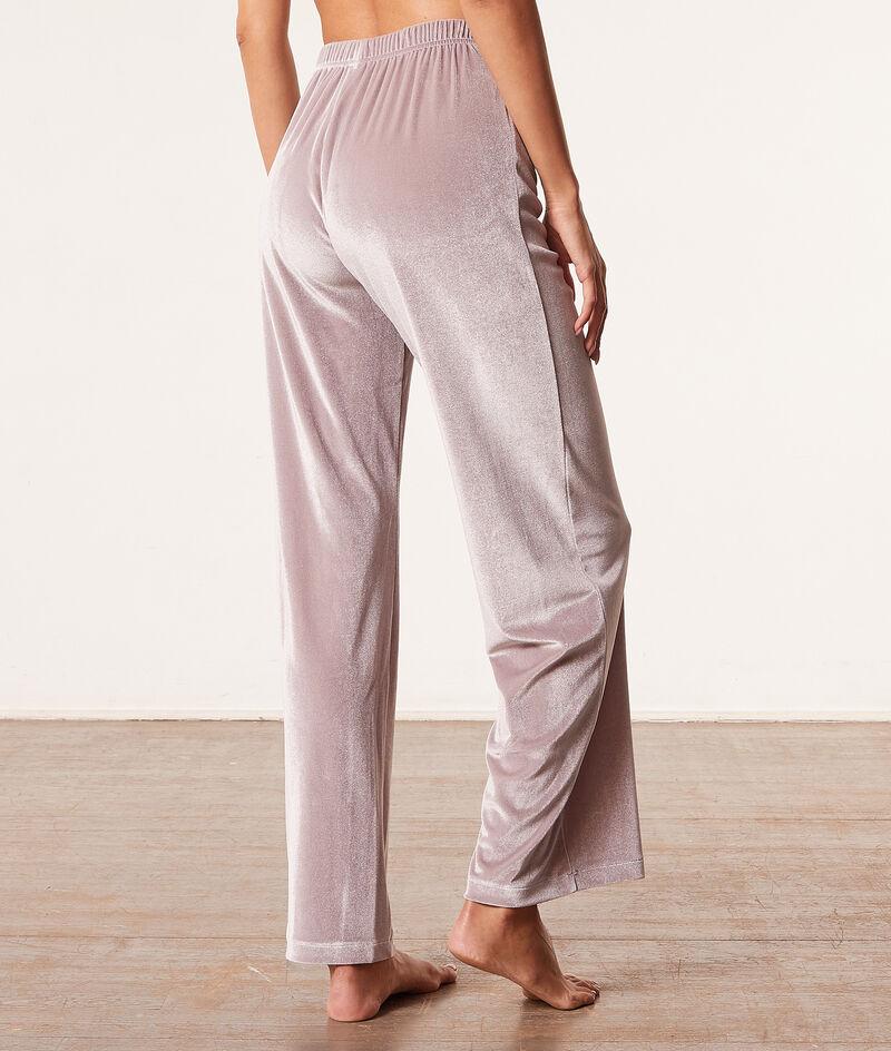 Pantalon de pyjama en velours;${refinementColor}