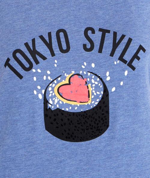 Top imprimé sushi