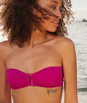 Bandeau bikinitopje met gesp, zonder beugels;${refinementColor}