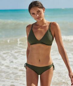 Bas de bikini à nouer kaki.