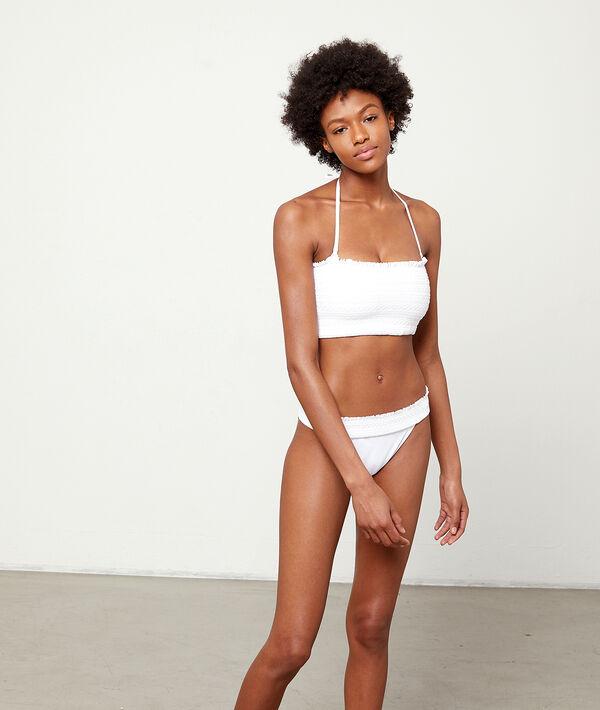 Bas de bikini simple, détails broderie;${refinementColor}