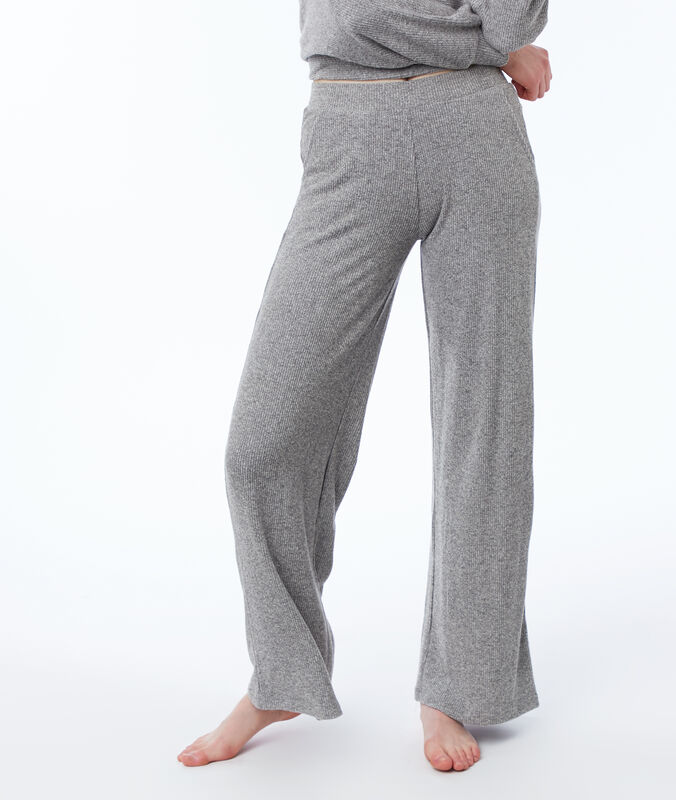 Pantalon homewear large grijs.