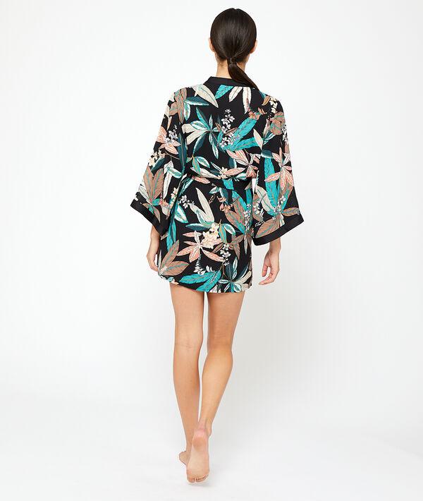 Kimono met botanical print;${refinementColor}
