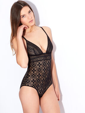 Body geometrische kant noir.