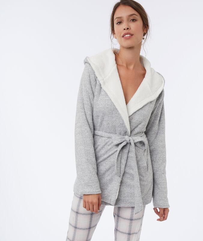 Veste homewear gris.