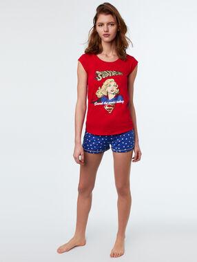 T-shirt print supergirl rood.