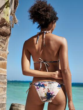 Bikinibroekje om te strikken multikleurig.