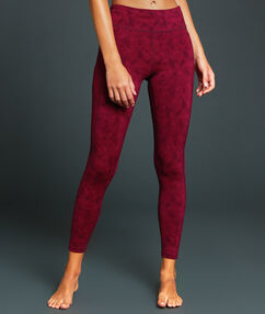 Pantalon de sport 7/8 ultra stretch bordeaux.