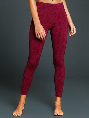 Pantalon de sport 7/8 ultra stretch bordeaux.