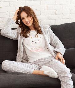 Pyjama 3 pièces ecru.