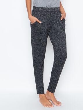Pantalon chiné coupe classique gris.