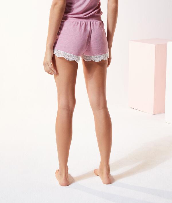 Shorts met kanten boorden;${refinementColor}