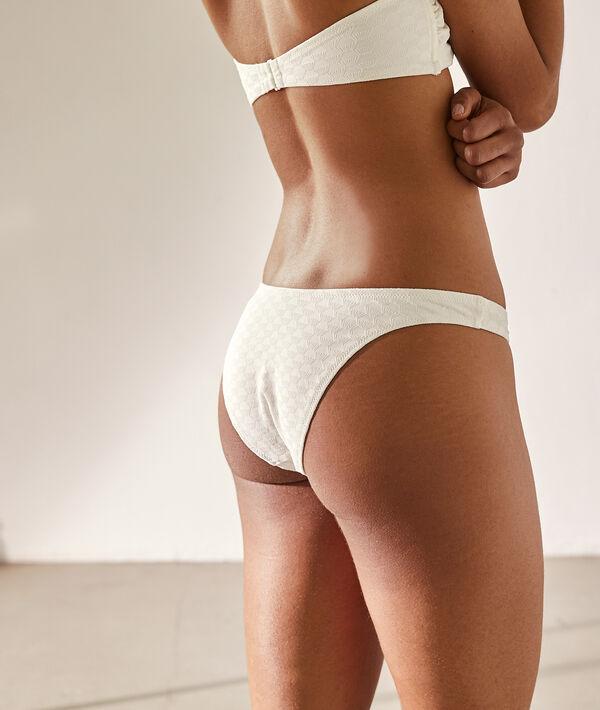 High leg bikinibroekje, getextureerd;${refinementColor}
