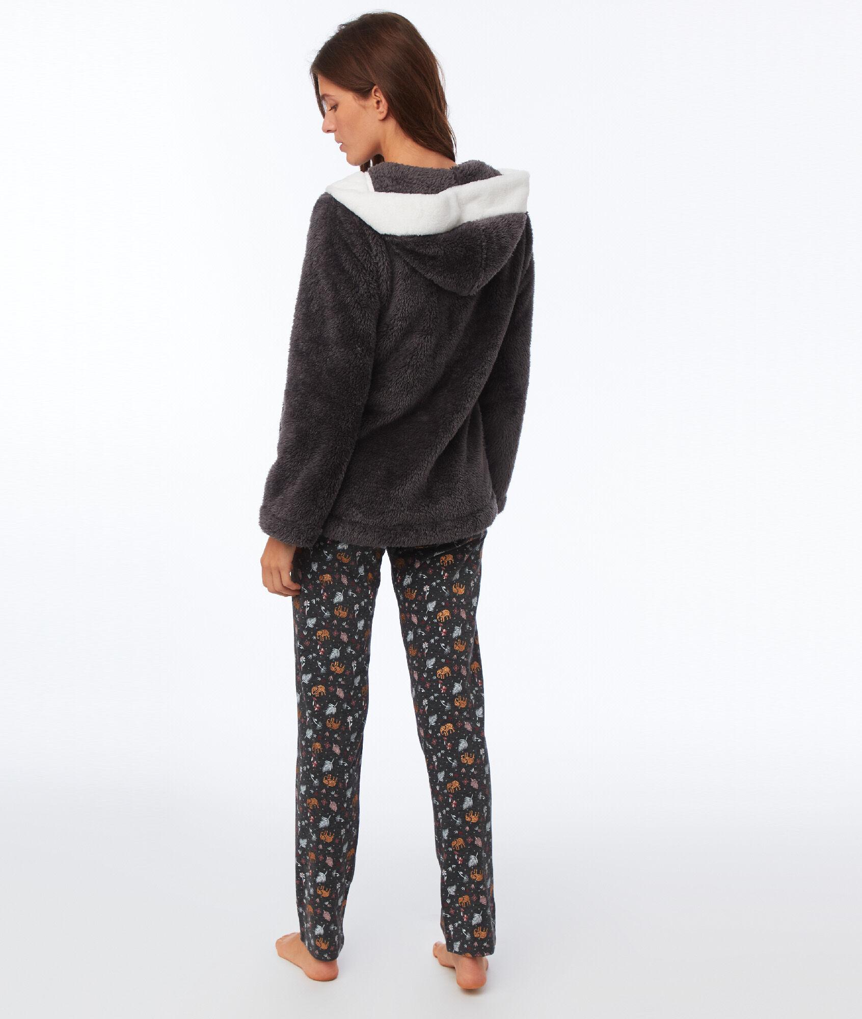 Pyjama trois pi ces l phant matteo anthracite etam - Pyjama elephant ...