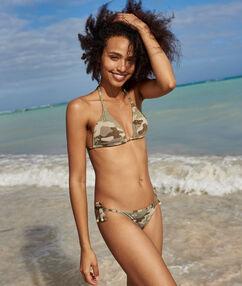 Bas de bikini à nouer militaire.