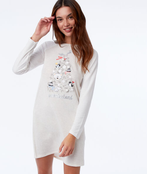 Chemise de nuit avec pompons