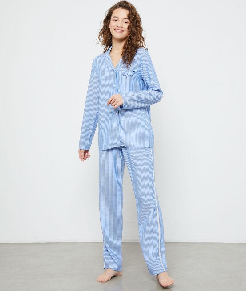 """Chemise de pyjama """"be free"""";${refinementColor}"""